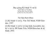 Bài giảng Kỹ thuật Vi xử lý - Chương 3: Vi xử lý 8088 - Intel