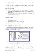 Cơ khí, chế tạo máy - Bài 3: Tiện ren tam giác ngoài có bước ren < 2 mm