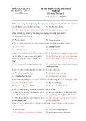 Đề thi kiểm tra hết môn khảo sát chất lượng - Mã đề: 11