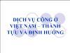 Dịch vụ công ở Việt Nam – thành tựu và định hướng