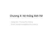 Hệ thống viễn thông - Chương 4: Hệ thống AM - FM