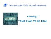 Kế toán tài chính - Chương 01: Tổng quan về kế toán
