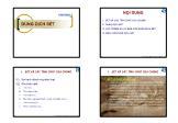 Kiến trúc xây dựng - Chương 2: Dung dịch sét
