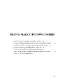 Nông nghiệp - Phần II: Marketing nông nghiệp
