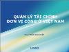 Quản lý tài chính đơn vị công ở Việt Nam