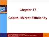 Tài chính doanh nghiệp - Chapter 17: Capital market efficiency