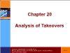 Tài chính doanh nghiệp - Chapter 20: Analysis of takeovers