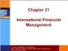 Tài chính doanh nghiệp - Chapter 21: International financial management