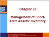 Tài chính doanh nghiệp - Chapter 22: Management of short - Term assets: inventory