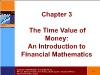 Tài chính doanh nghiệp - Chapter 3: The time value of money: an introduction to financial mathematics