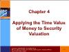 Tài chính doanh nghiệp - Chapter 4: Applying the time value of money to security valuation