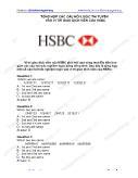 Tổng hợp các câu hỏi logic thi tuyển vào vị trí giao dịch viên của HSBC