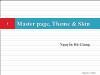 Bài giảng Lập trình Asp.Net - Phần 7: Master page, Theme & Skin - Nguyễn Hà Giang