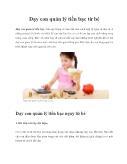 Dạy con quản lý tiền bạc từ bé