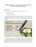 Những bài viết xúc động của học sinh viết tặng thầy cô giáo nhân ngày 20/11