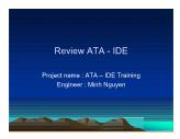 Review ATA - IDE - Project: ATA – IDE Training - Minh Nguyen