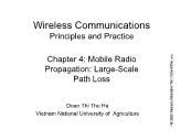 Wireless Communications Principles and Practice - Chapter 4: Mobile Radio Propagation: Large-Scale Path Loss