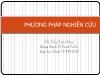 Bài giảng Phương pháp nghiên cứu kinh tế - Bài 4: Phát triển khung khái niệm và khung phân tích - Trần Tiến Khai