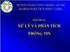 Bài giảng Phương pháp nghiên cứu kinh tế - Chương 4: Xử lý và phân tích thông tin - Ngô Thị Thuận