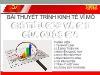 Bài thuyết trình Kinh tế vĩ mô - Chỉ tiêu GDP và GNI của quốc gia - Tạ Nhật Linh