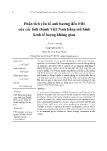 Phân tích yếu tố ảnh hưởng đến FDI của các tỉnh thành Việt Nam bằng mô hình kinh tế lượng không gian