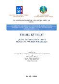 Tài liệu kỹ thuật Quản lý rủi ro thiên tai và thích ứng với biến đổi khí hậu - Đại học Thủy Lợi