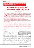 Kinh nghiệm quốc tế và bài học cho Việt Nam