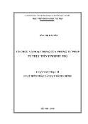 Luận văn Tổ chức và hoạt động của Phòng Tư pháp từ thực tiễn tỉnh Phú Thọ