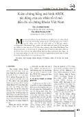 Kiểm chứng bằng mô hình ARDL tác động của các nhân tố vĩ mô đến chỉ số chứng khoán Việt Nam