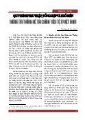 Quy trình thu thập, tổng hợp và phổ biến thông tin thống kê tài chính tiền tệ ở Việt Nam