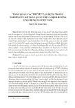 Tổng quan các thuyết vận dụng trong nghiên cứu kế toán quản trị và định hướng ứng dụng tại Việt Nam