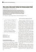 Ứng dụng công nghệ thông tin trong ngành thuế